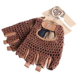 Leather Cycling Glove / Brown Leather / Mesh レザー素材